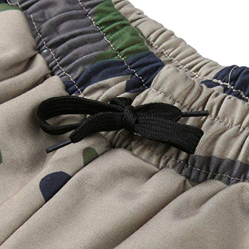 Realdo Hot!Clearance Sale Fashion Men Tight Beam Foot Drawstring Sports Slacks Casual Elastic Pockets Trousers(XXX-Large,Army Green) by Realdo (Image #4)