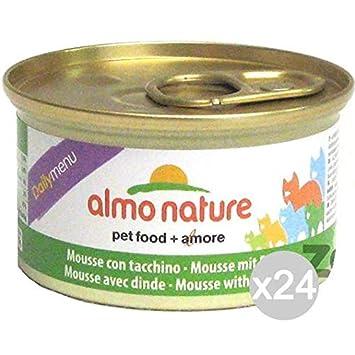 Almo nature Juego 24 Gato 154 Lata Gr 85 Pavo Mousse Comida para Gatos: Amazon.es: Productos para mascotas