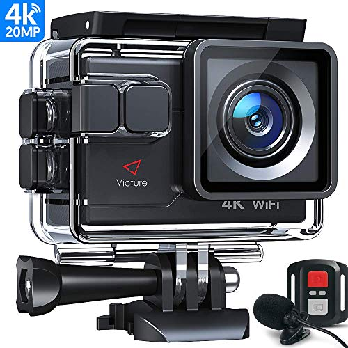 Victure Action Camera 4K WiFi 16MP 98Feet Waterproof
