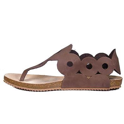 9fbd1ae59 Yokono Women s Infradito Thong Sandals Brown Size  5  Amazon.co.uk ...