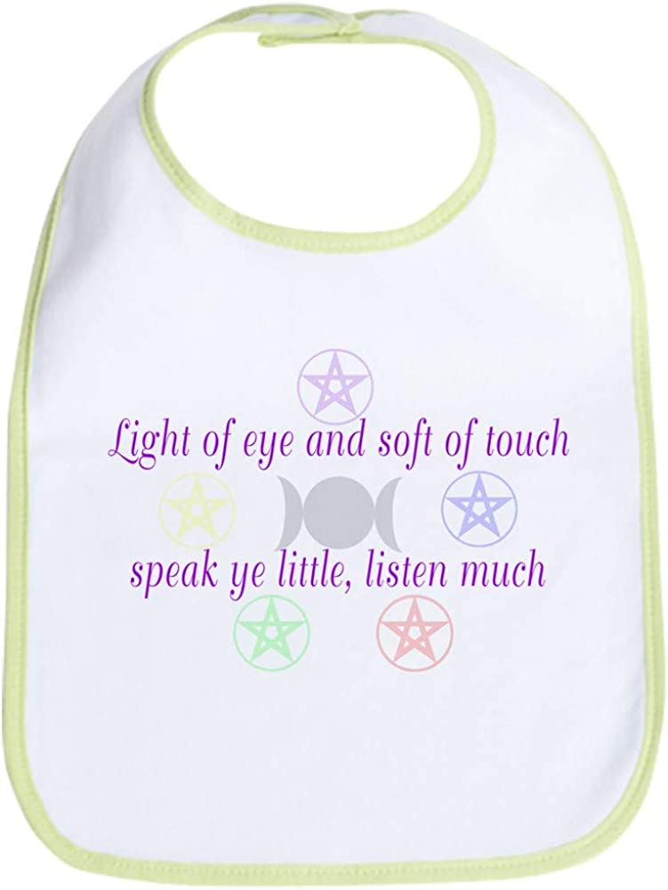 CafePress Speak Ye Little, Listen Much Bib Cloth Baby Bib