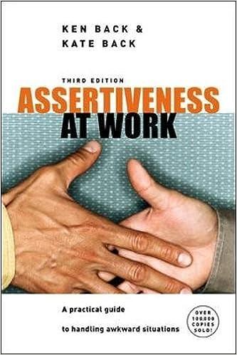 Assertiveness at Work (UK Professional Business Management / Business)