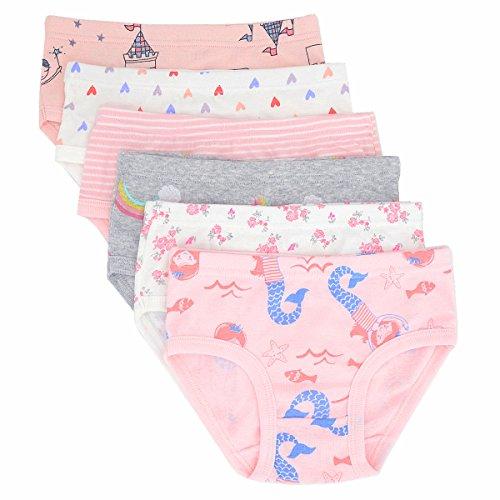 Toddler Little Girls' Briefs Panties Kids Cotton Underwear Set 6 Pack (5-6 Years, Style2)