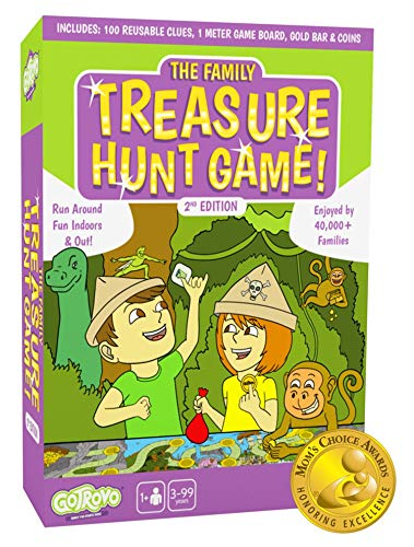 Gotrovo Treasure Hunt Game - Fun Scavenger Hunt for Kids of All Ages - Versatile Indoor, Outdoor, Camping, Party Game - Play at Home, in The Garden Or Anywhere MOM'S Choice Award Winner (Renewed)]()