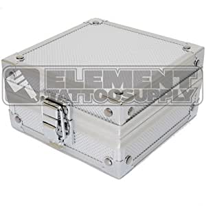 Silver Aluminum Machine Case Element Tattoo Supply Gun