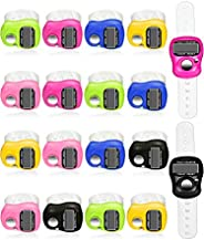 Tatuo 18 Pieces Hand Tally Counter 5 Digital Finger Counter Clickers Resettable Lap Counter Handheld Mechanica