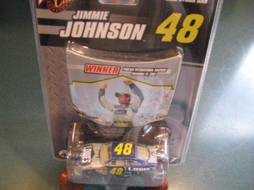 (Jimmie Johnson #48 Lowes Monte Carlo 1/64 Scale Diecast & Bonus Magnet Hood Commemorating Jimmie's Win at Phoenix International Raceway on 11 November 2007 Winners Circle 2007)