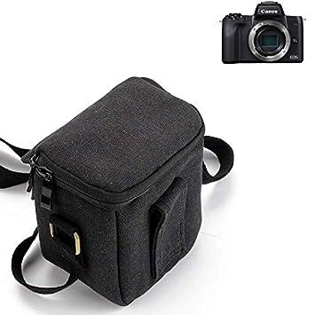 KS-Trade para Canon EOS M50 Cámara Bolsa Funda de Hombro Estuche Bolso Compacto resisten a los Golpes protección, Negro