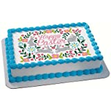 Happy Easter Edible Icing Image for 6 inch Round Cake