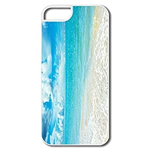 IPhone 5S Cases, Beach Cases For IPhone 5S - White Hard Plastic