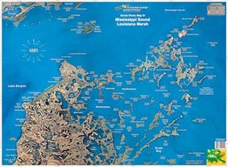 Map Of Louisiana Bayou.Amazon Com 50 Louisiana Marsh Bayou Biloxi Boating Equipment