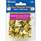 BAZIC Brass (Gold) Thumb Tack