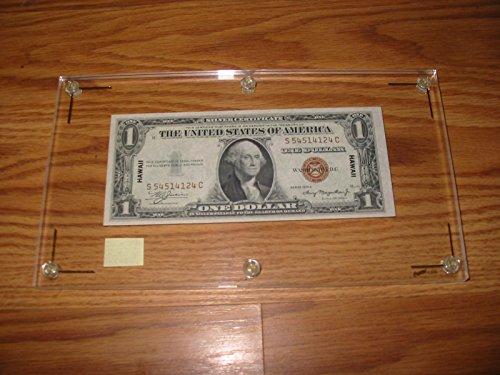 1935 -A $1 HAWAII SILVER CERTIFICATE---SHARP AU+CU----HIGH-GRADE PRE-WWII ISSUE----VERN'S CARD & COIN $1 AU CU (Card Coin Silver)