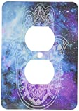 3dRose lsp_200821_6 Galaxy Hamsa 2 Plug Outlet Cover