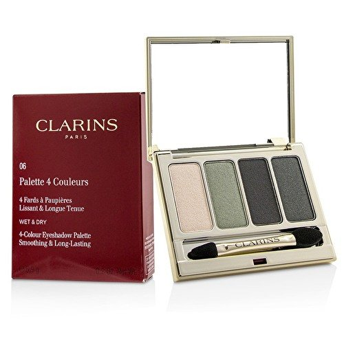 Clarins 4 Colour Eyeshadow Palette - Shade Forest 06 (Clarins For Color Quartet Eyes)
