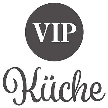 Wandtattoo Küchen Wandworte VIP Küche Schriftzug Wanddeko ...