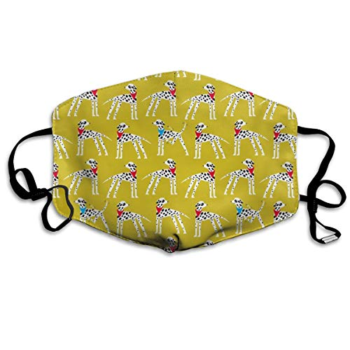 Dalmation Nation (yellow) Fashion Outdoor Mouth Mask for sale  Delivered anywhere in Canada