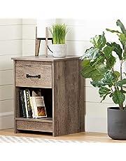 South Shore Furniture 12416 Tassio 1-Drawer Nightstand-Weathered Oak
