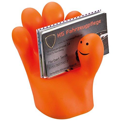 Porta oggetti da scrivania porta biglietti da visita porta cellulare Design Hand in PVC