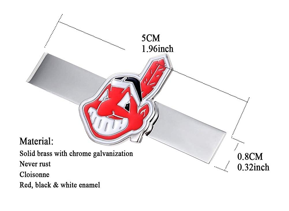 Promotioneer Mens Baseball The Team Logo Symbol Series Tie Bar Tie Clip with Gift Box