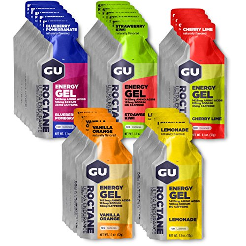 (GU Energy Roctane Ultra Endurance Energy Gel, Assorted Flavors, 24-Count)