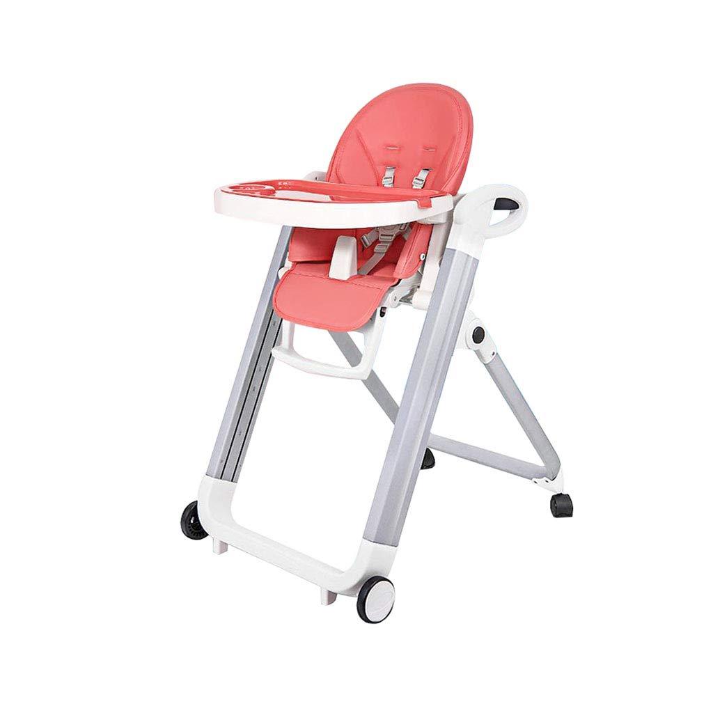 車輪が付いている調節可能な赤ん坊のハイチェアの供給の折り畳み式のリクライニング   B07T18VMCG