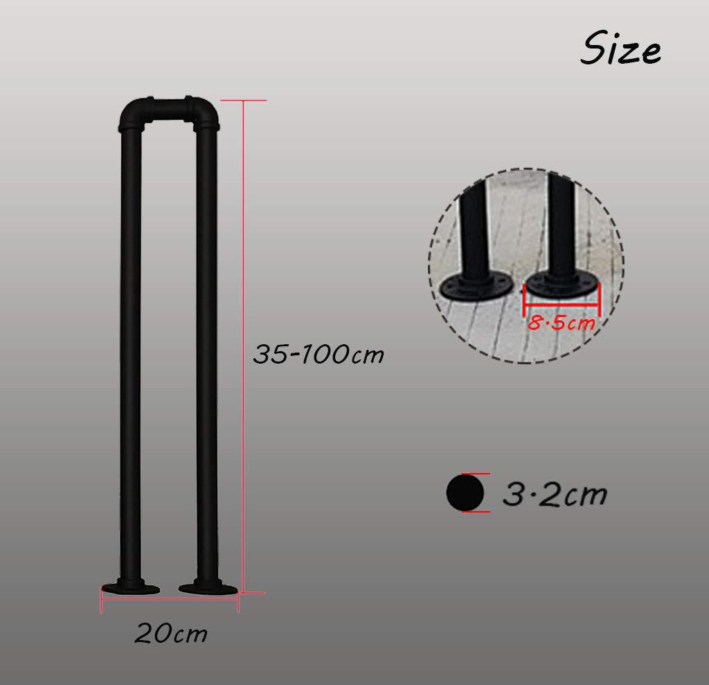 YUDE-U Barandilla de Escalera de Hierro Forjado Tipo tuber/ía galvanizada Barra Adecuada para escaleras barandilla de Seguridad con Forma de tuber/ía de Agua Personalizada