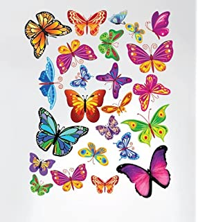 Amazoncom Easy Instant Home Decor Wall Sticker Decal Vivid - Wall decals butterfliespatterned butterfly wall decal vinyl butterfly wall decor