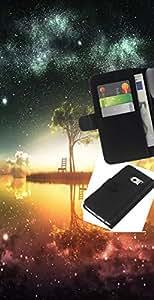 """A-type (Psychedelic Galaxy Espacio"""") Colorida Impresión Funda Cuero Monedero Caja Bolsa Cubierta Caja Piel Card Slots Para Samsung Galaxy S6 EDGE (NOT S6)"""