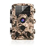 AIMTOM AMHC7001 Trail Hunting Camera 16MP 1080P 46Pcs IR LEDs 0.2S Trigger Wide View Angle Waterproof Time Lapse Scouting Game Stealth Hunt HD Cam Wildlife Observation Property Security Surveillance