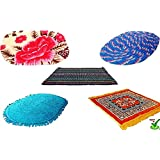 Online Quality Store Door mats set of 5 Combo Offer for 5 Different location of a house(Size = 16*24 inch, Multi Colors, Cotton Stuff) Offer price for 7 Days