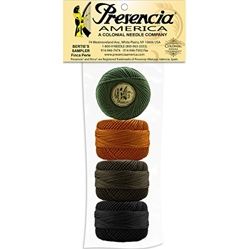 PEARL COTTON SIZE 5 THREAD SAMPLER PACK PRESENCIA PERLE Neutral 6 Colors NEW