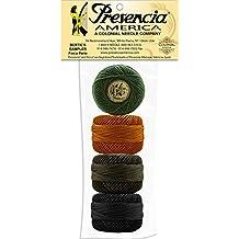 "Presencia Perle Cotton Thread Sampler - ""Lucky Dog"" by Bonnie Sullivan 2017 - Size 8 - 4 colors- 77 yards each"