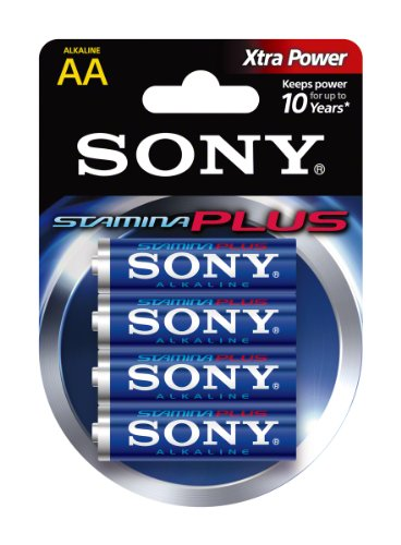 - SONY S-AM3B4A Stamina Plus Alkaline Batteries (AA, 4 Pack)