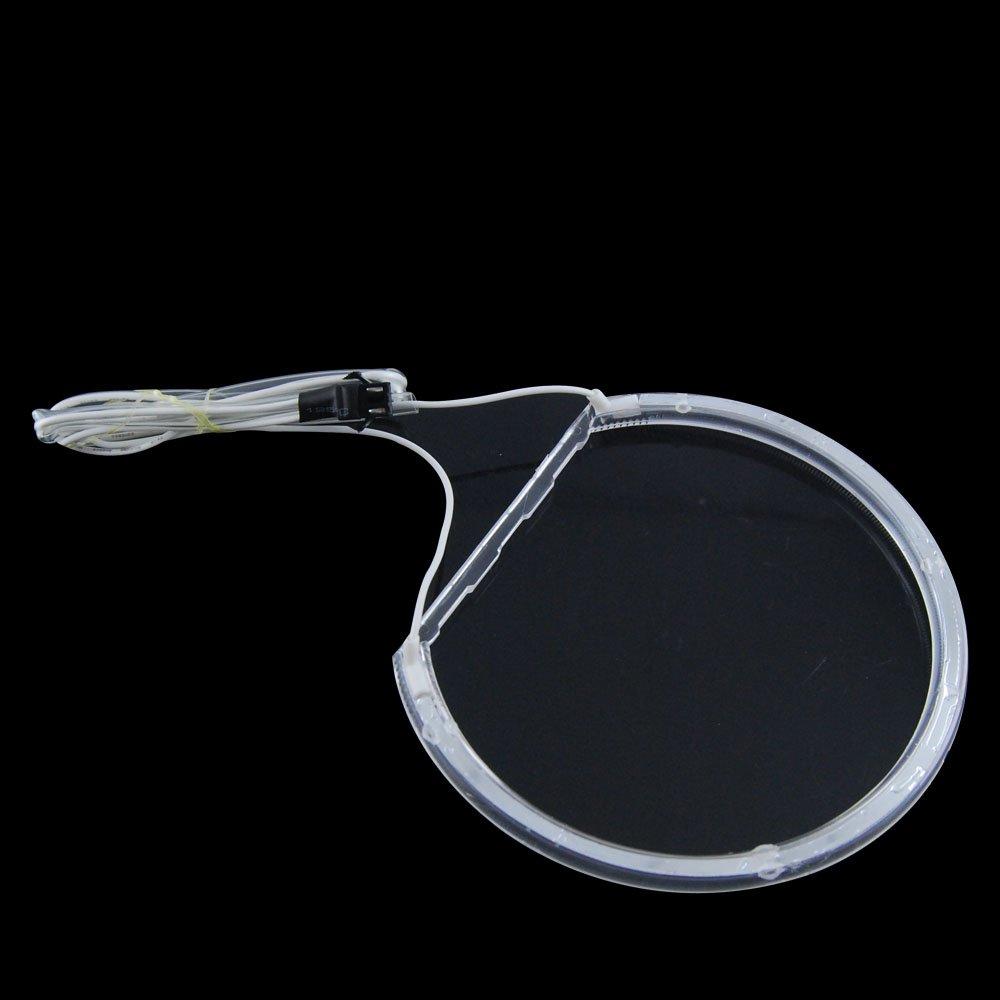 A Prueba de choques /& Hidr/ófugo No es Compatible con no-proyector Azul ALBRIGHT 7000K Super Brillante Blanco Angel Eyes Halo Ring LED CCFL Faro para E46 4 * 131mm Rings