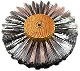 Steel Wire Brush Strands .003'' X 6'' Diameter Straight 4 Row