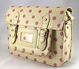 bolso de las señoras, bolso de lunares bolso, bolso de hombro, color de rosa