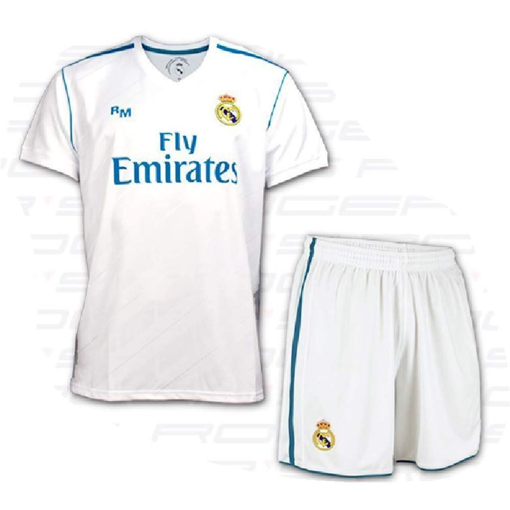 BOX SET 1ª EQUIPACION REAL MADRID REPLICA OFICIAL 2017-2018- TALLA 6 AÑOS: Amazon.es: Deportes y aire libre