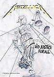 Heart Rock Bandiera Originale Metallica And Justice for All, Tessuto, Multicolore, 110x75x0.1 cm