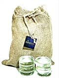 Juneberry Glass Fermentation Weights For Wide Mouth Mason Jars (8 Pack) Non-Porous, Lead-Free