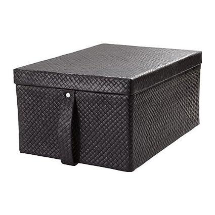 Bladis – Caja de almacenaje con tapa, color negro