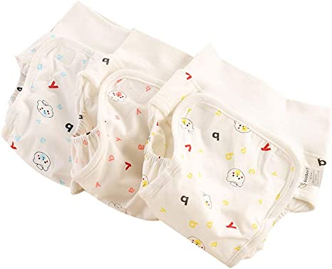 2 Pack Baby Nappy covers Knickers 0-12 months white cotton Potty Training Pants