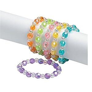 Assorted Plastic Iridescent Bead Bracelets 24 Pcs - 51j6QG Yf2L - Assorted Plastic Iridescent Bead Bracelets 24 Pcs