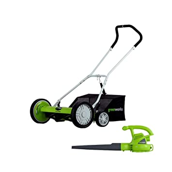 Amazon.com: GreenWorks - Cortacésped con 5 cuchillas de ...