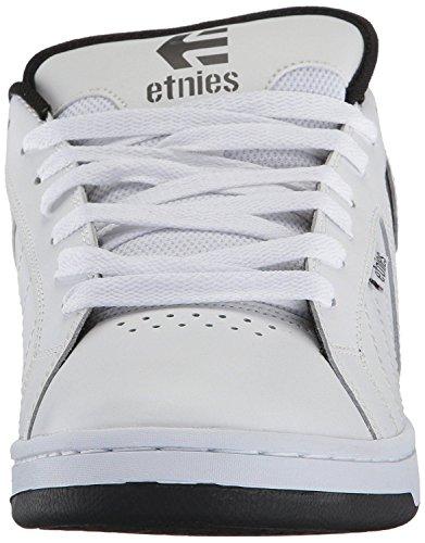 Etnies Fader 2 Bianco Grigio Uomo Pelle Skate Formatori