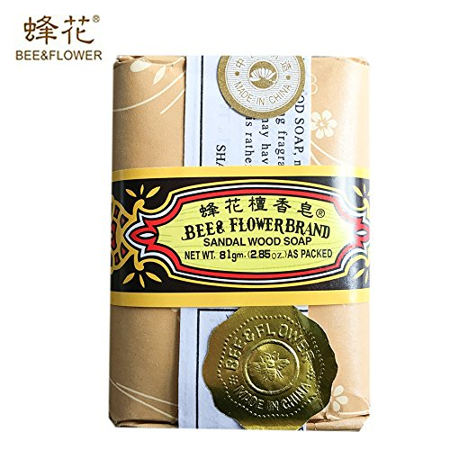 Bee & Flower - Sandalwood Soap 81g (2.85Oz) - Pack of 12 bars (12/Case) Shanghai Soap Co. Ltd