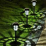 Solpex 8 Pack Solar Pathway Lights Outdoor, Solar Powered Garden Lights, Waterproof Led Path Lights...