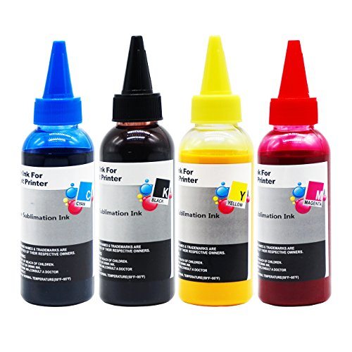 C88+ Printer - Printers Jack 400ML Sublimation Ink For Inkjet Printers C68 C88 C88+ WF7610 WF7010 WF7710 WF7110 WF3640 WF3610 WF3540 Heat Press Transfer on Mugs, Plates, Polyester Shirts, Phone Cases etc