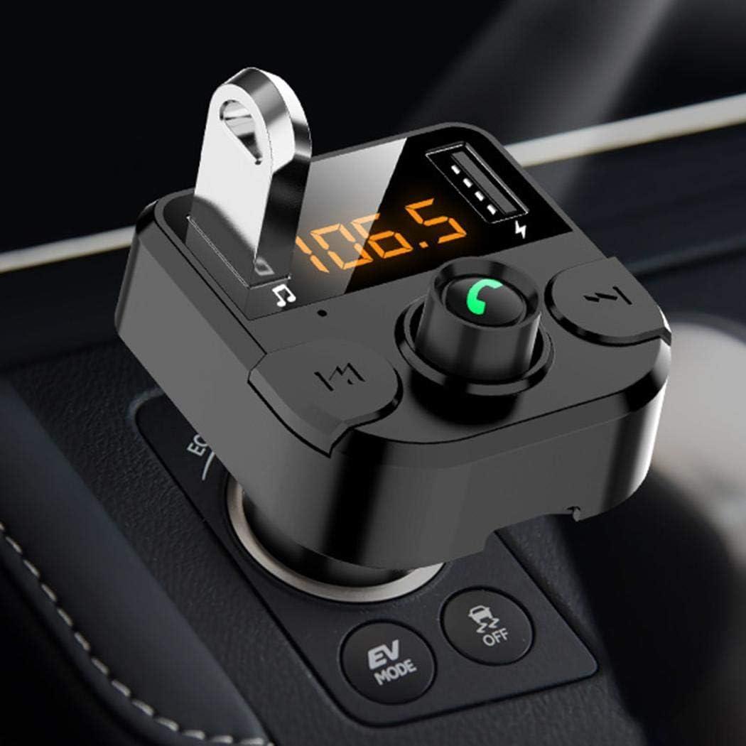 Free Venus Trasmettitore FM per Lettore MP3 Vivavoce per Caricabatterie USB per Auto 3.1A Senza Fili Bluetooth Custodie con Batteria Integrata