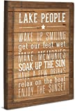 """Pavilion Gift Company 67217 We People Lake People Rules Sign, 12 x 15"""""""